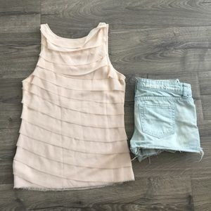 Forever 21 sheer ruffle tank ~ Size Small